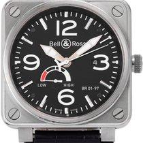 Bell & Ross BR 01-97 Réserve de Marche pre-owned 46mm Leather