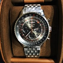 Breitling Navitimer GMT Steel 48mm Black No numerals