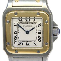 Cartier Santos Galbée Gold/Steel 24mm Silver Roman numerals United States of America, Florida, 33431