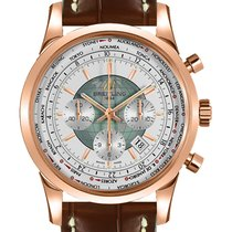 Breitling Transocean Chronograph Unitime Rose gold 46mm White United States of America, New York, NY