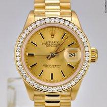 Rolex Datejust President / Diamond Bezel / 18k Yellow Gold / 6917