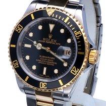 Rolex Oyster Submariner Gold Steel Black Dial 40 mm (Full Set)