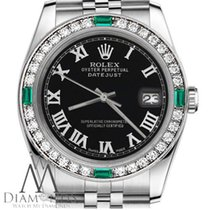 Rolex Datejust Steel 36mm Black Roman numerals United States of America, New York, New York