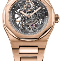Girard Perregaux Rose gold Automatic Transparent 42mm new Laureato