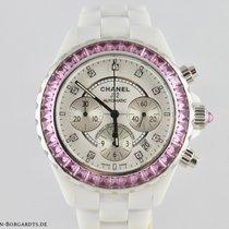 Chanel Or blanc Remontage automatique Blanc Sans chiffres 41mm occasion J12