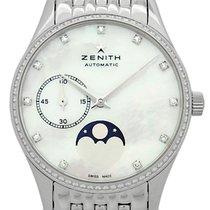 Zenith Elite Ultra Thin Steel 33mm White