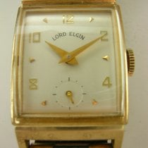 Elgin Yellow gold Manual winding White Arabic numerals 22mm pre-owned