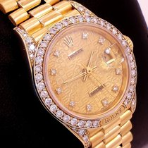 Rolex President 69158 Crown Collection 18k Y Gold Fact...