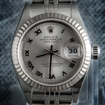 Rolex Chronometer 26mm Automatisch tweedehands Lady-Datejust Zilver