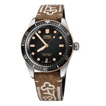 Oris Bronze Automatic Black No numerals 40mm new Divers Sixty Five