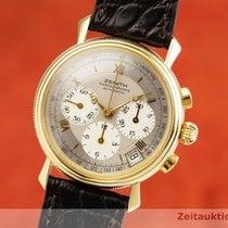 Zenith El Primero Chronograph occasion 36.5mm Argent Chronographe Date Cuir de crocodile