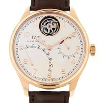 IWC Portuguese 18k Rose Gold Silver Automatic IW504402