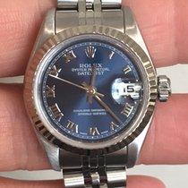 Rolex Lady Datejust 179174 Blue, Roman Dial/Fluted Bezel