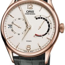 Oris Rose gold Manual winding Champagne 43mm new Artelier Calibre 111
