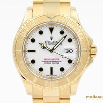Rolex Yacht-Master Yellow Gold White Dial Full Set