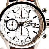 Raymond Weil Chronograph 42mm Automatic pre-owned Freelancer Silver