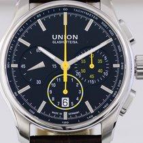 Union Glashütte Belisar Chronograph Stahl black yellow 43mm...