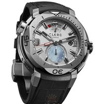 Clerc Hydroscaph GMT Steel 48mm Silver