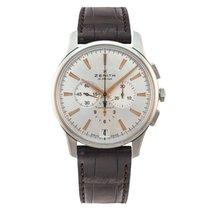 Zenith Captain Chronograph nuevo Automático Reloj con estuche y documentos originales 03.2110.400/01.C498