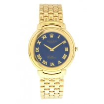 Rolex Cellini Yellow gold 37mm Blue