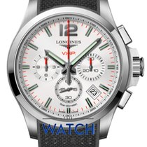 Longines Conquest Steel 42mm Silver Arabic numerals