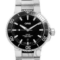 Oris Steel Automatic Black 43.5mm new Aquis Date