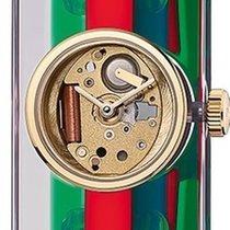 38fa4e4a801 Gucci YA143501 Gold Steel new