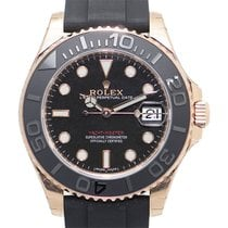 Rolex Yacht-Master 37 Rose gold 37mm Black