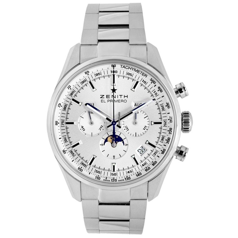 buy online f35a2 be38e Zenith El Primero 410 Triple Calendar Moonphase Chronograph  03.2091.410/01.C494