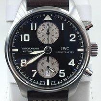 IWC Pilot Spitfire Chronograph Steel 43mm Black Arabic numerals