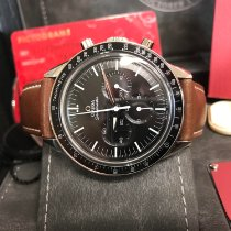 Omega Steel Automatic Black No numerals 39mmmm pre-owned Speedmaster Professional Moonwatch