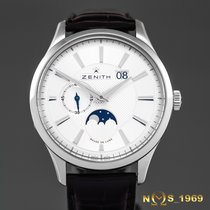 Zenith Captain Moonphase Zeljezo 40,50 mm case excl.crownmm Srebro Bez brojeva