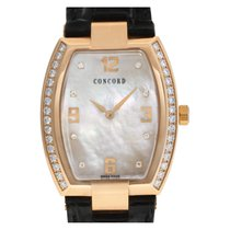 Concord Rose gold Quartz Mother of pearl No numerals 33mm pre-owned La Scala