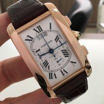 Cartier Tank Americaine Xxl Ouro Rose Chrono Impecavel  Completo