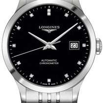 Longines Record Steel 38.5mm Black United States of America, New York, Airmont