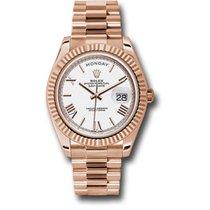 Rolex Day-Date 40 Oro rosa 40mm Blanco Romanos