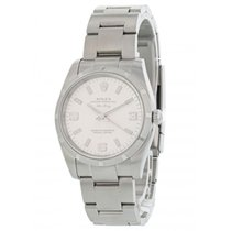Rolex Air King pre-owned 34mm Silver Steel
