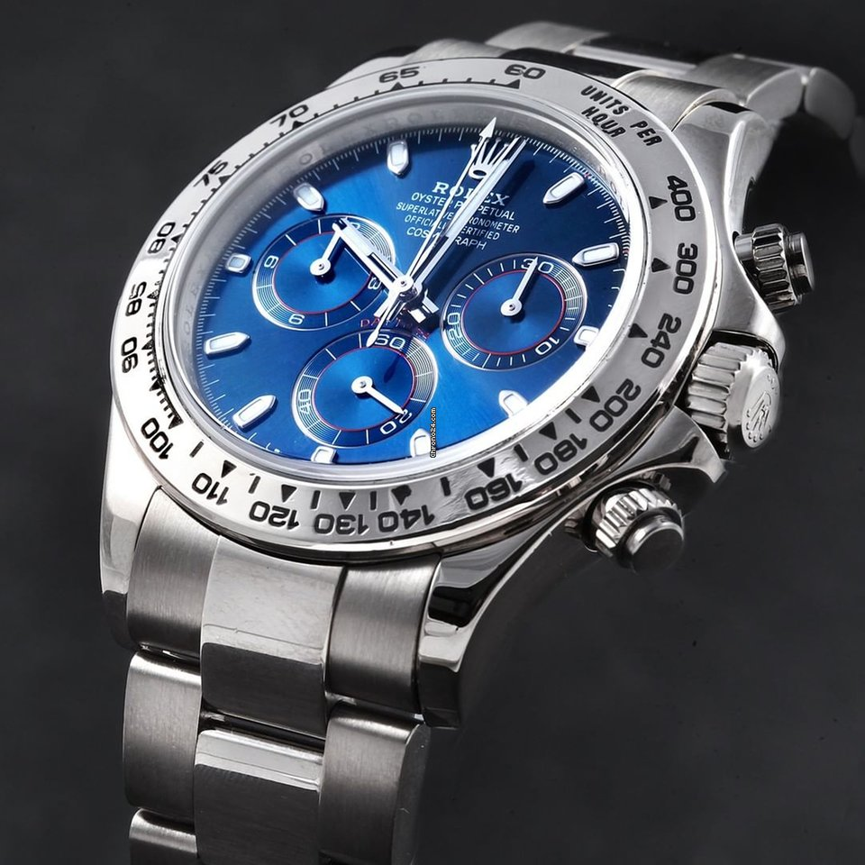 Rolex New Daytona 116509 White Gold Blue Dial Automatic Watch For