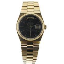 Rolex Day-Date Oysterquartz Oro amarillo 36mm Negro Sin cifras