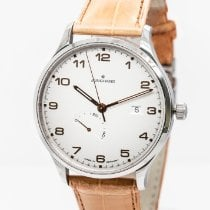 Junghans Attaché Stal 42mm Srebrny Arabskie