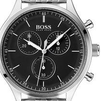 ac0f00f7b253 Hugo Boss HB1513548 Companion Black Face Gold Chronograph Mens... en ...