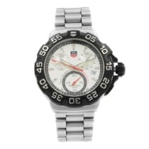 TAG Heuer Formula 1 Quartz pre-owned 41mm Silver Chronograph Date Steel