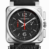 Bell & Ross BR 03-94 Chronographe Steel 42mm Black Arabic numerals