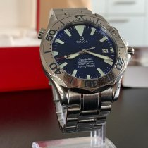 Omega Staal Automatisch Blauw Geen cijfers 41mm tweedehands Seamaster Diver 300 M