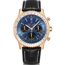 Breitling Red gold Automatic Blue 43mm new Navitimer 1 B01 Chronograph 43