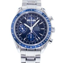 Omega Speedmaster Day Date pre-owned 40mm Blue Date Month Steel