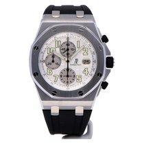 Audemars Piguet Royal Oak Offshore Chronograph Acciaio 42mm Bianco Arabo