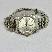 Rolex Stříbro Automatika Stříbrná Bez čísel 36mm použité Datejust