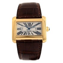 Cartier Tank Divan Yellow gold 38mm Silver Roman numerals United States of America, Massachusetts, Andover