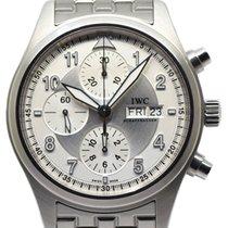 IWC Pilot Spitfire Chronograph Steel 42mm Silver Arabic numerals